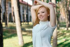 Free Teenage Girl At The Park Royalty Free Stock Photography - 20039787