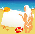 Free Beauty Woman On A Beach Royalty Free Stock Images - 20040979