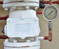 Free Fire Pipe Alarm Valve With Meter Royalty Free Stock Images - 20044509