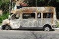 Free Burnt Bus Royalty Free Stock Photos - 20046318