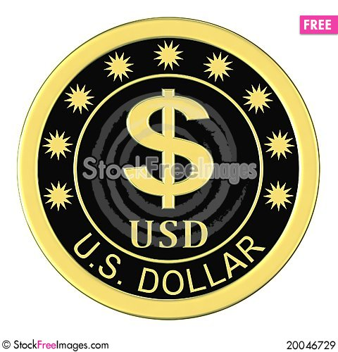 Medal with a dollar sign Stock Photo