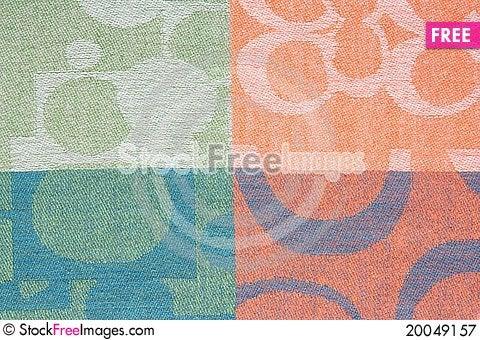 Colorful Thai silk Stock Photo