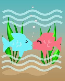 Free Fishy Kiss Royalty Free Stock Images - 20040009