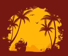 Free Summer Tropical Banner Stock Photos - 20040433