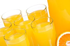Free Pitcher And Glasses Full Of Juice Stock Image - 20040761