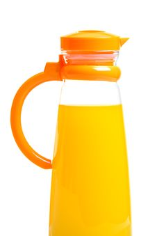 Free Single Pitcher Full Of Orange Juice Stock Images - 20040864