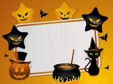 Free Halloween Mesage Background Stock Image - 20041701
