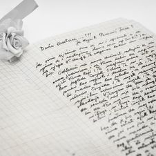 Free Very Old Handwritten Letter. Stock Photo - 20042030