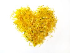 Free Yellow Heart From Flowers Stock Photos - 20042993
