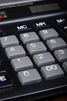 Buttons Of Calculator Stock Image