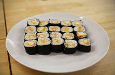Free Sushi Maki Rolls Royalty Free Stock Photos - 20043118
