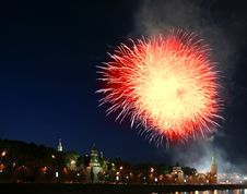 Free Fireworks Over The Moscow Kremlin. Russia Stock Image - 20043231