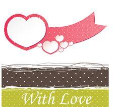Valentine S  Heart.  Illustration Stock Photo