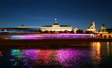Free Night View Of The Moskva River  And Kremlin Royalty Free Stock Images - 20043309