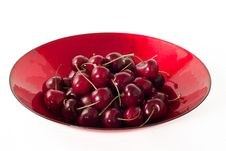 Free Cherries On A Plate Royalty Free Stock Photography - 20043357