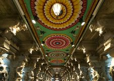 Free Inside Of Meenakshi Hindu Temple In Madurai Stock Photography - 20043362