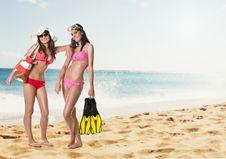 Free Beach Girls Stock Photo - 20044200
