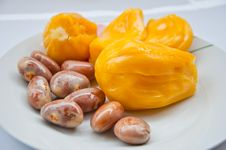 Delicious Jackfruit And Seed Royalty Free Stock Photos