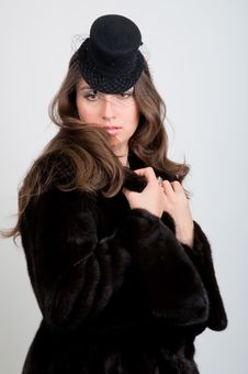 Free Beautiful Young Woman In Hat Royalty Free Stock Images - 20044629