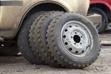 Wheels Vehicle Rubber Royalty Free Stock Photos