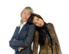 Free Two Tired Business Women Royalty Free Stock Photos - 20044928