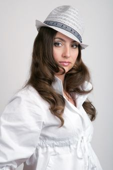 Free Beautiful Young Woman In Hat Stock Image - 20045011
