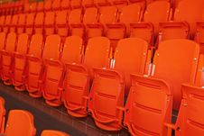 Free Orange, Plastic Seats. Royalty Free Stock Photography - 20045087