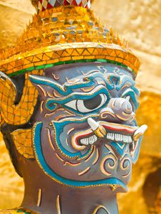 Giant (Yaksa) Within Wat Phra Kaew In Thailand Royalty Free Stock Image