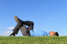 Free Businesssman At The Park Stock Photography - 20045732