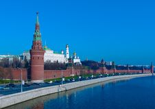 Kremlin And Moskva River, Moscow, Russia Stock Photo