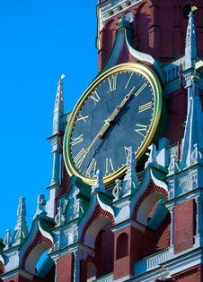 Free Clock On Spasskaya Tower, Moscow, Russia Stock Photo - 20045760