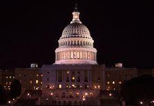 Free Capitol Building - Congress At Night, Washington Stock Images - 20045814