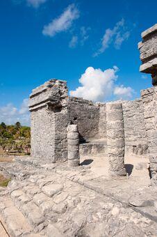 Free Tulum Maya Ruins Yucatan Peninsula,  Mexico. Royalty Free Stock Images - 20047619
