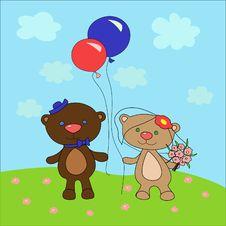 Free Wedding Bears Royalty Free Stock Photo - 20048165