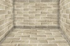 Free Stone Brick Wall Room Stock Photo - 20048550