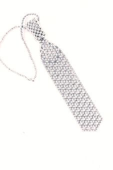 Free Tie Lace Beaded Silver. Stock Photography - 20049272