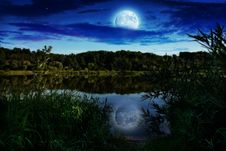 Free Night Landscape Royalty Free Stock Images - 20049729