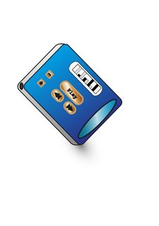 Free Blue Mp3 Player Stock Photos - 20049733