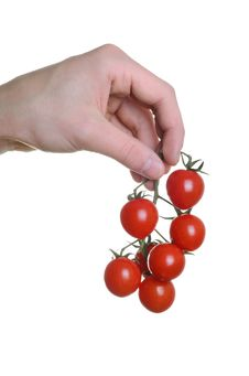 Free Hand And Grape Tomatoes Stock Image - 20049781
