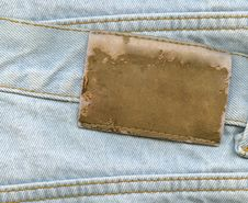 Free Blank Leather Label Royalty Free Stock Photo - 20049845