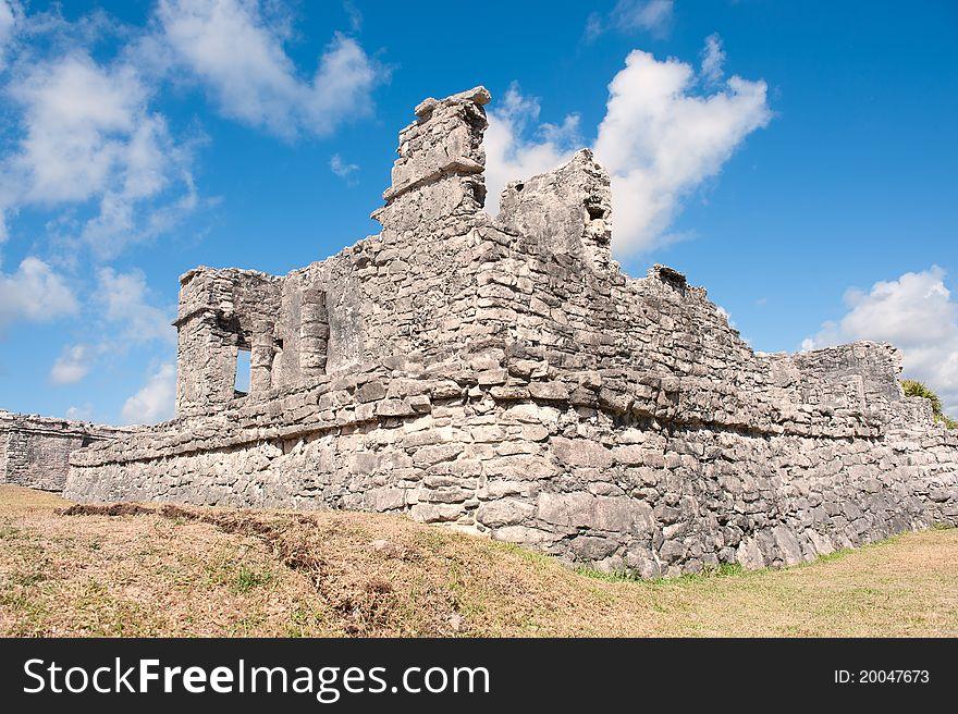 Tulum maya ruins yucatan peninsula,  Mexico.