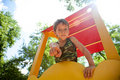 Free Cute Young Boy On Playground Stock Image - 20053501