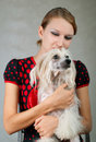 Free Girl And Chinese Crested Dog Stock Photo - 20056030