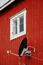 Free Wooden Wall With Satellite Antenna Royalty Free Stock Photography - 20058487