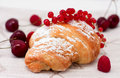 Free Croissant With Berries Stock Photography - 20059912
