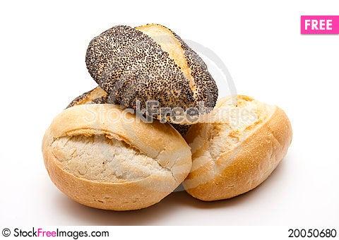 Baked rolls Stock Photo