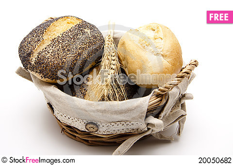 Roll in the basket Stock Photo