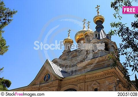 Church of Mary Magdalene, Jerusalem Stock Photo