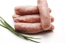 Free Fried Sausage With Chives Stock Images - 20050124