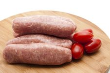 Free Coarse Fried Sausage Royalty Free Stock Photos - 20050158